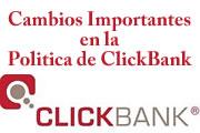 Cambio en la Politica de ClickBank